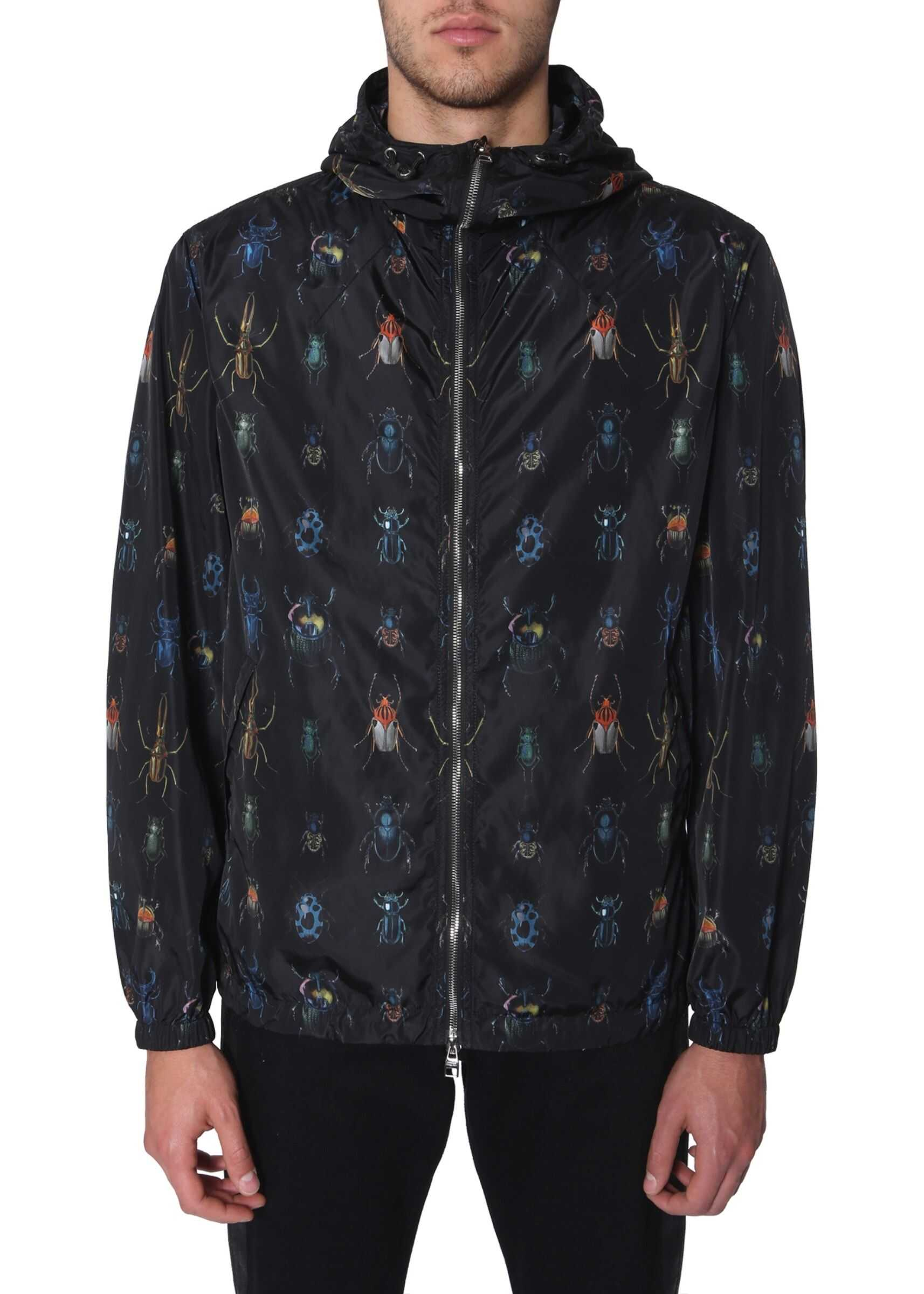 Alexander McQueen Wind Jacket With Hood BLACK