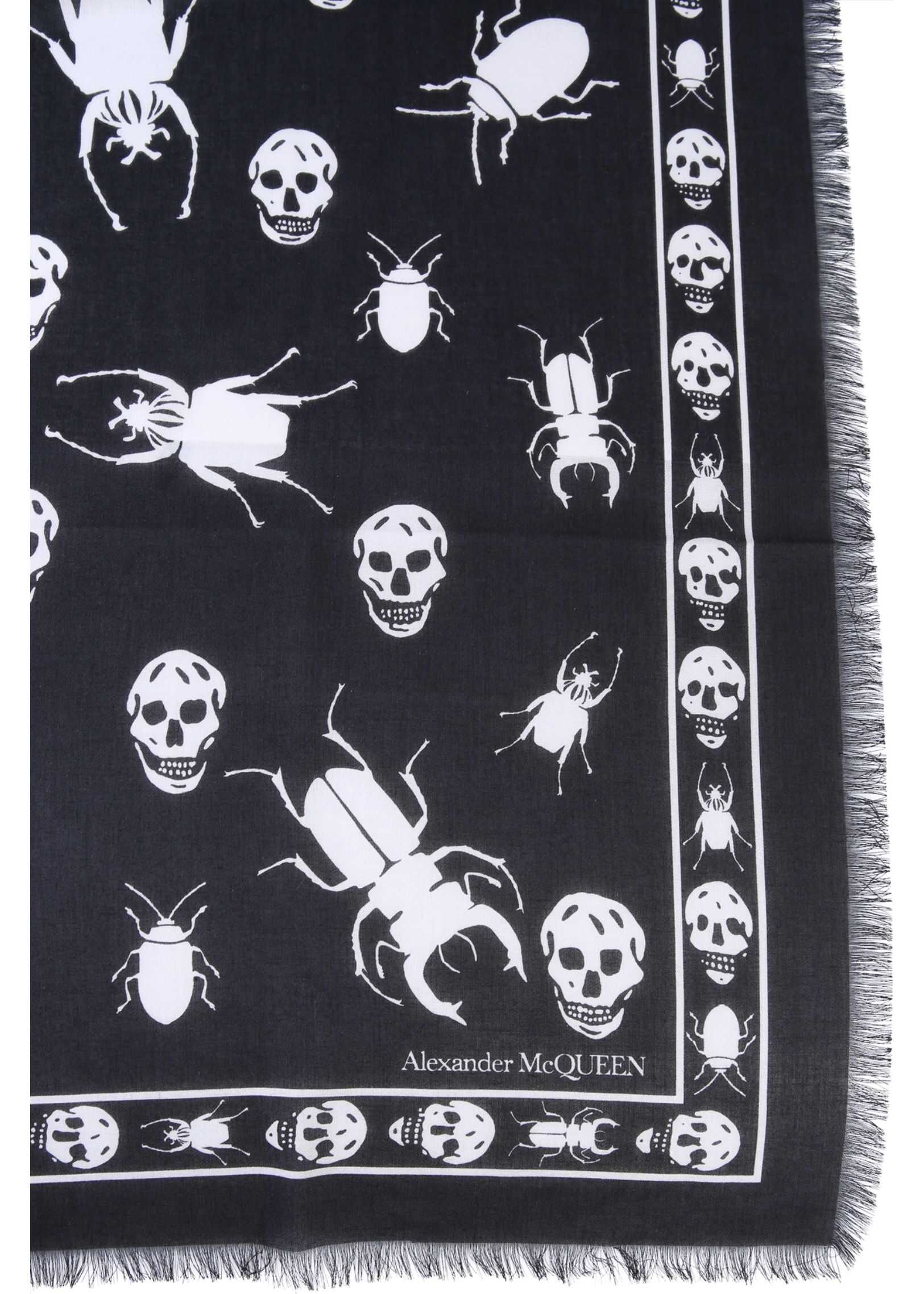 Alexander McQueen Mixed Cotton Foulard BLACK