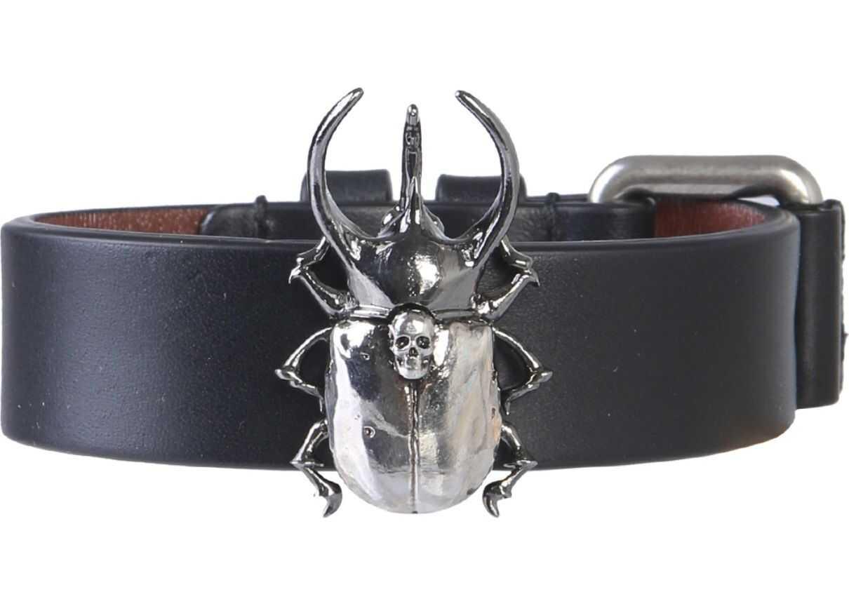 Alexander McQueen Beetle Bracelet BLACK