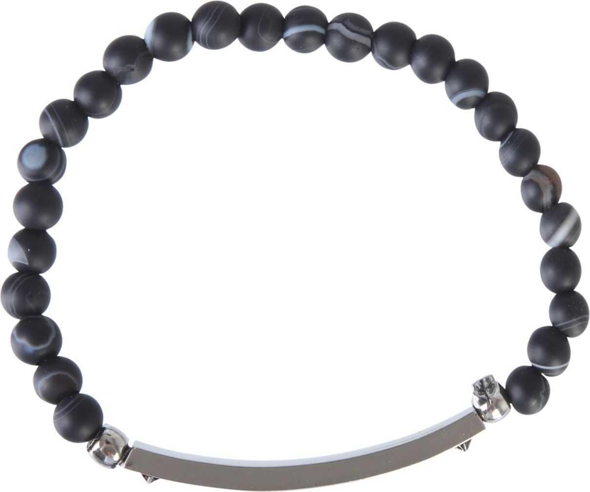 Alexander McQueen Identity Skull Bracelet BLACK