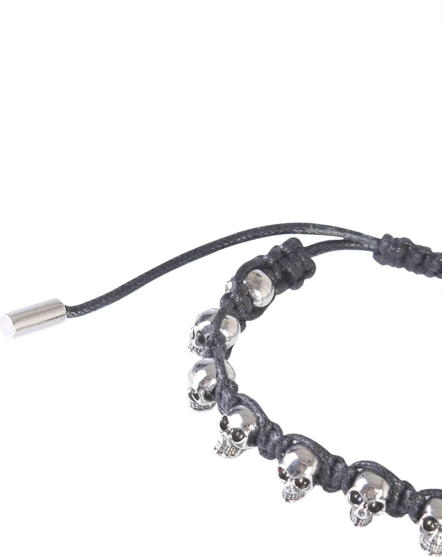 Alexander McQueen Multi Skull Bracelet SILVER