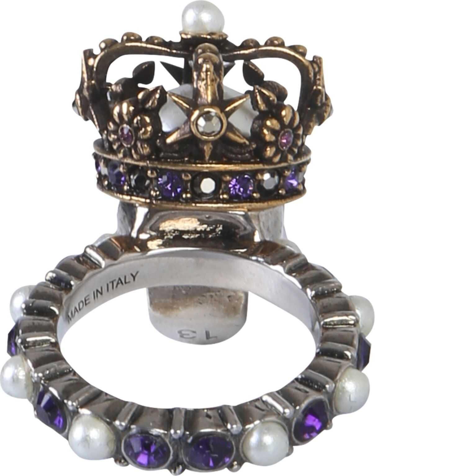 Alexander McQueen Skull King Ring MULTICOLOUR