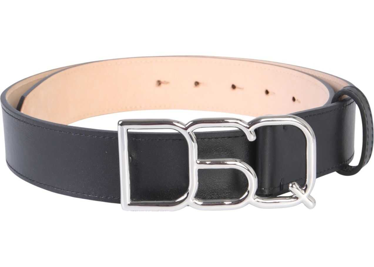 DSQUARED2 Logo Buckle Belt BLACK