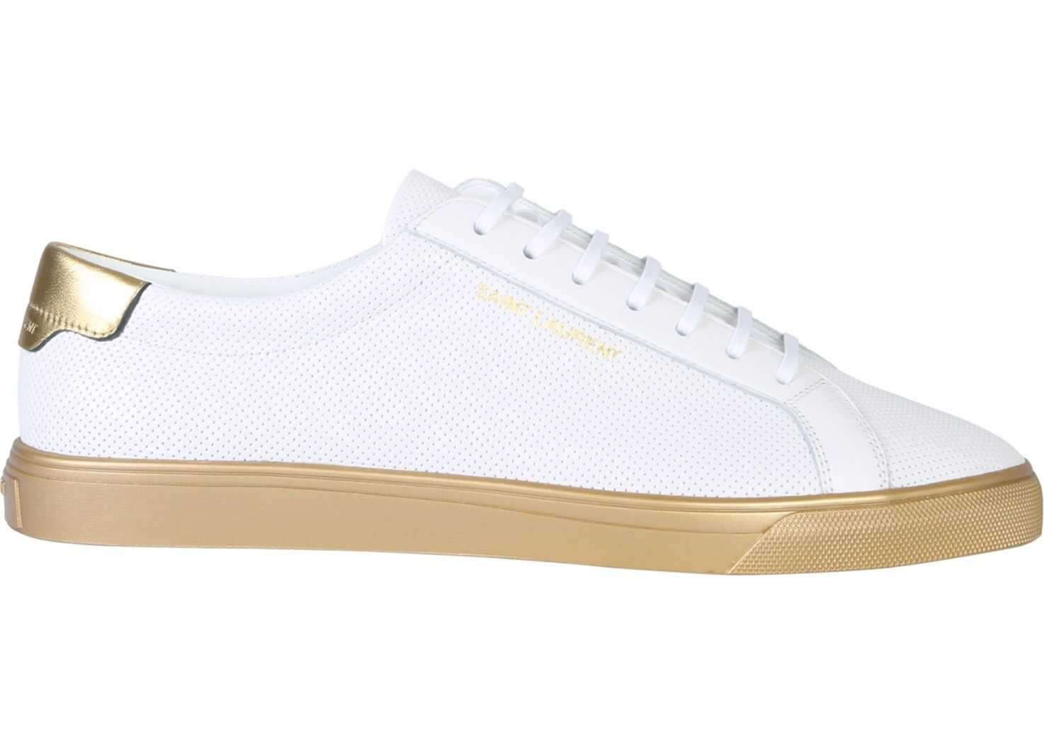 Saint Laurent Andy Sneaker Andy Leather Sneaker WHITE