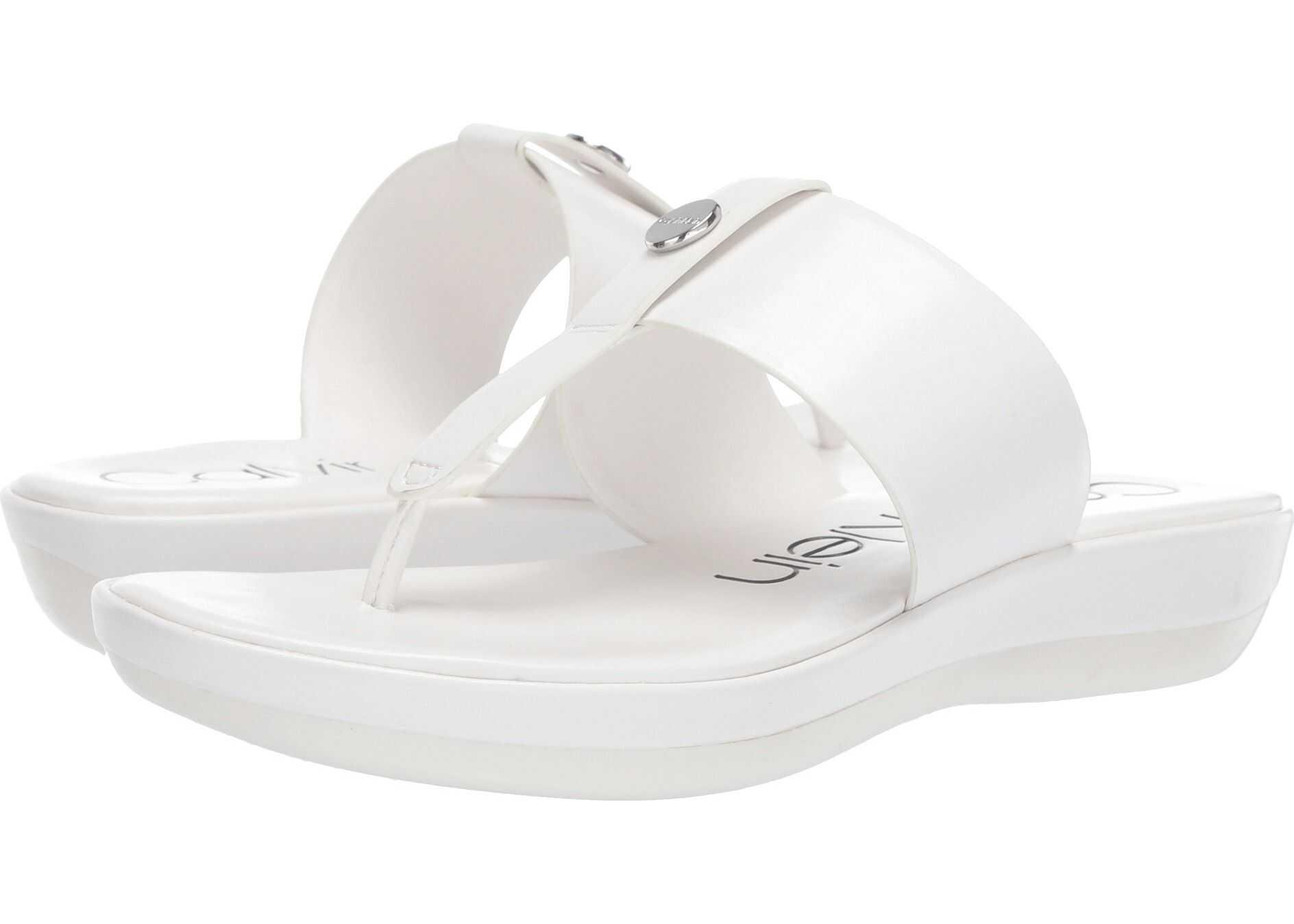 Calvin Klein Kimmy White Varnished Crackled