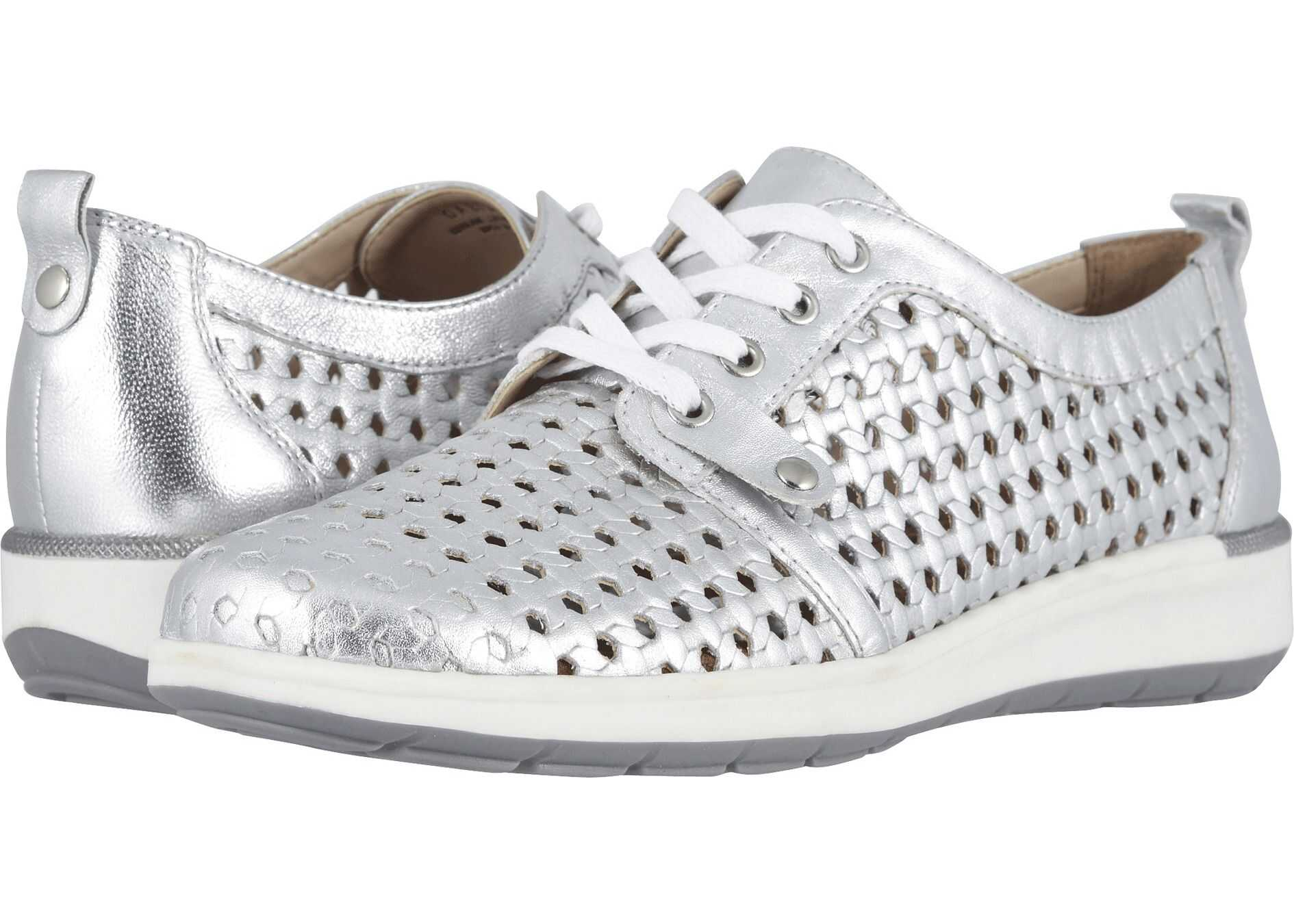 Walking Cradles Oasis Bright Silver Leather