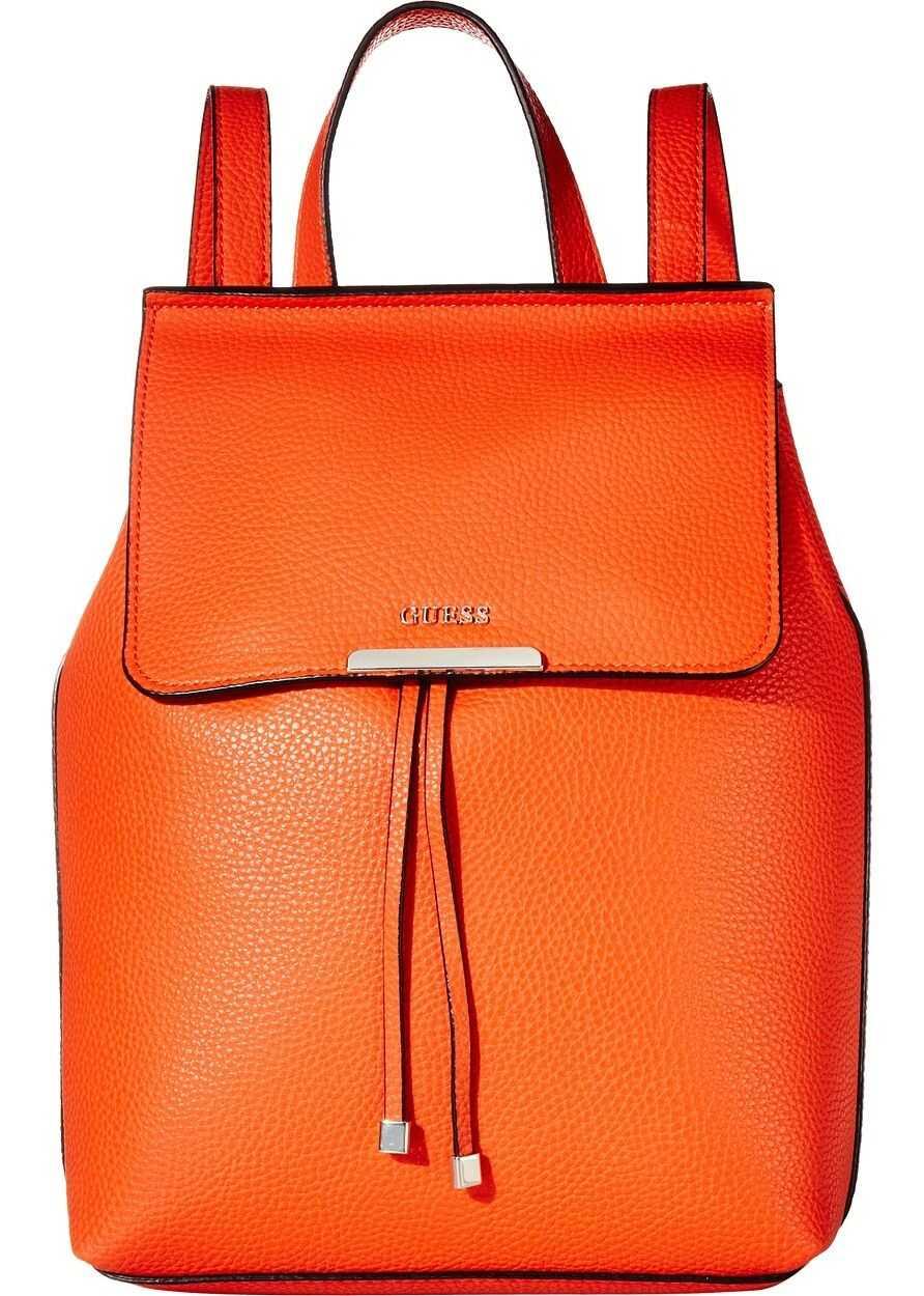 GUESS Varsity Pop Backpack Orange/Coral