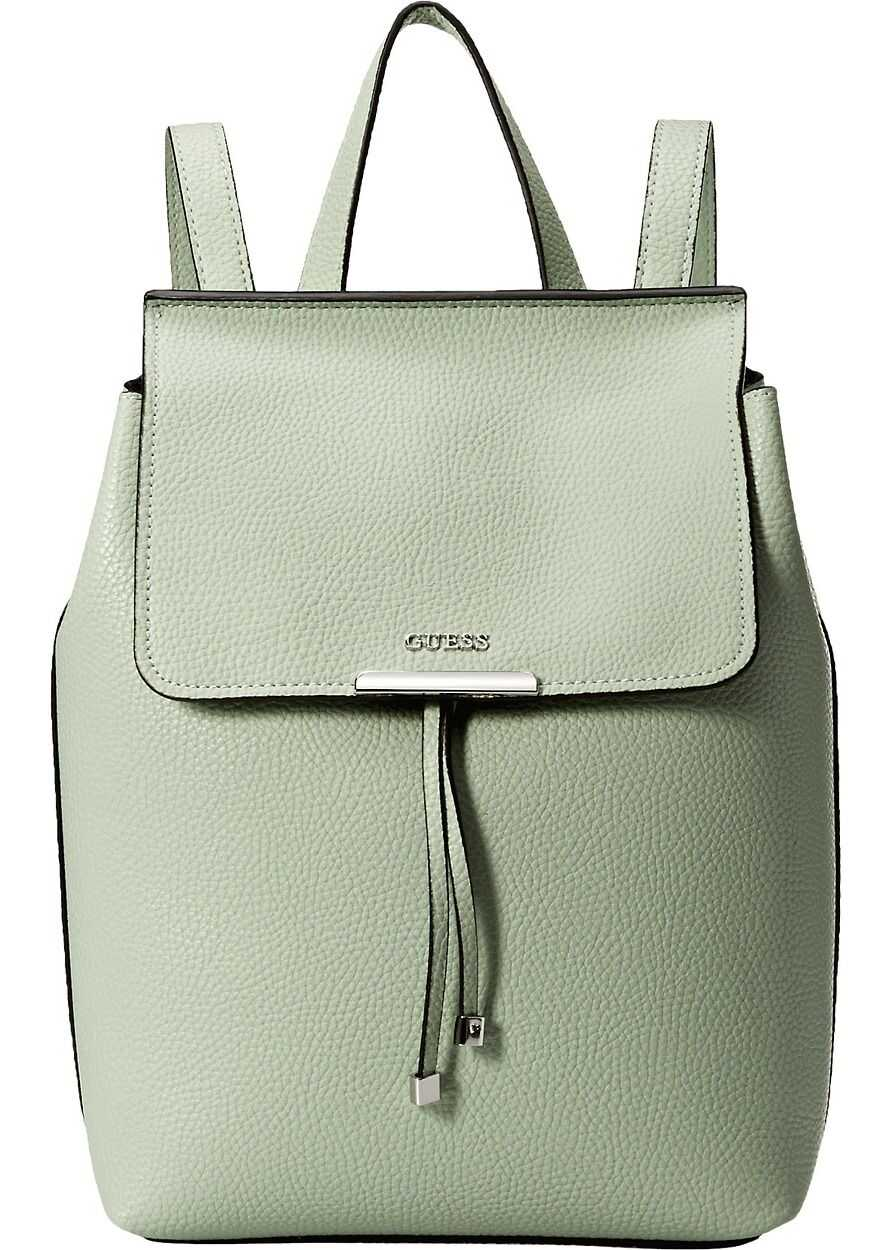 GUESS Varsity Pop Backpack Mint/Silver