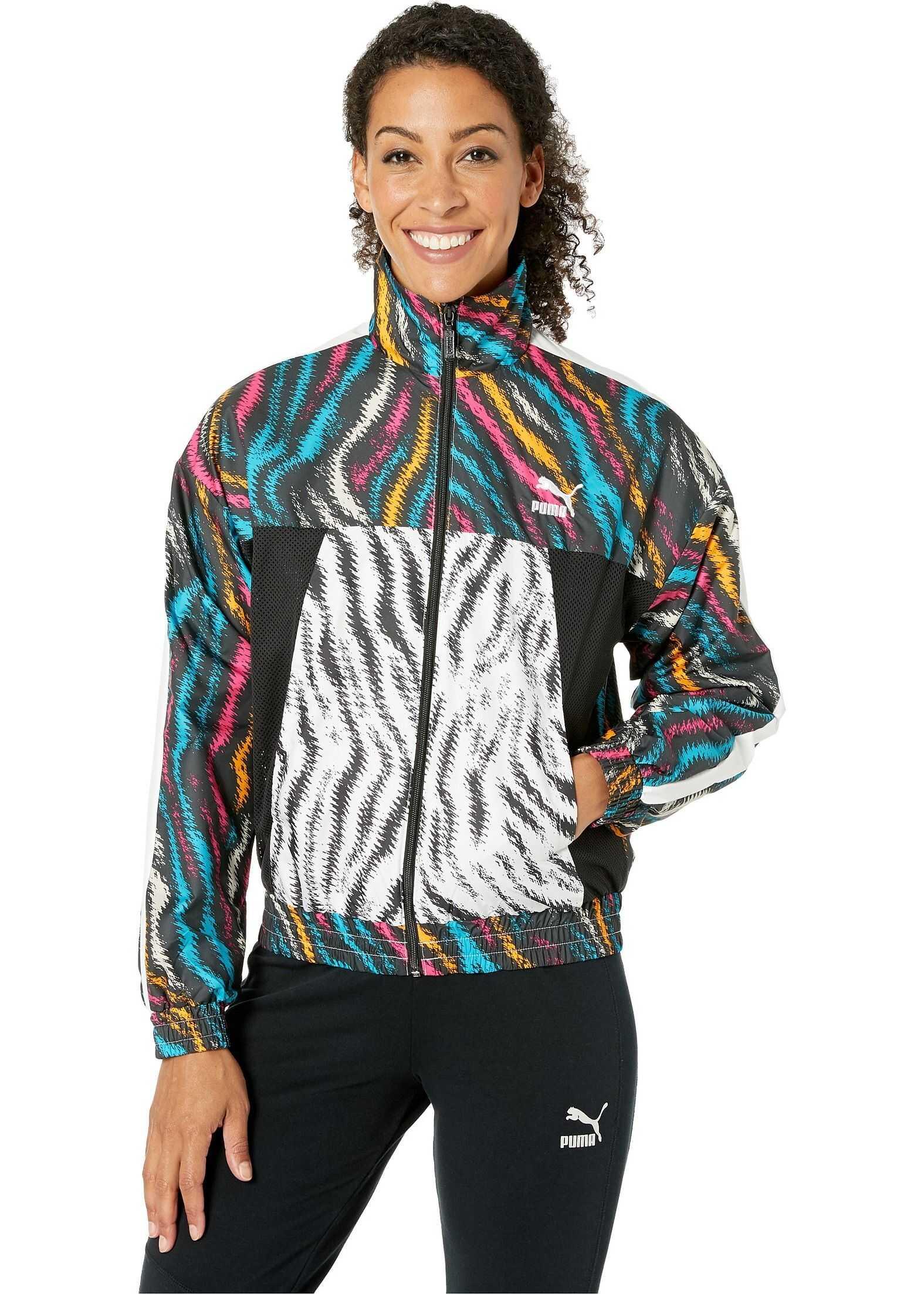 PUMA Wild Pack Cropped Jacket Puma Black/Colour/Zebra
