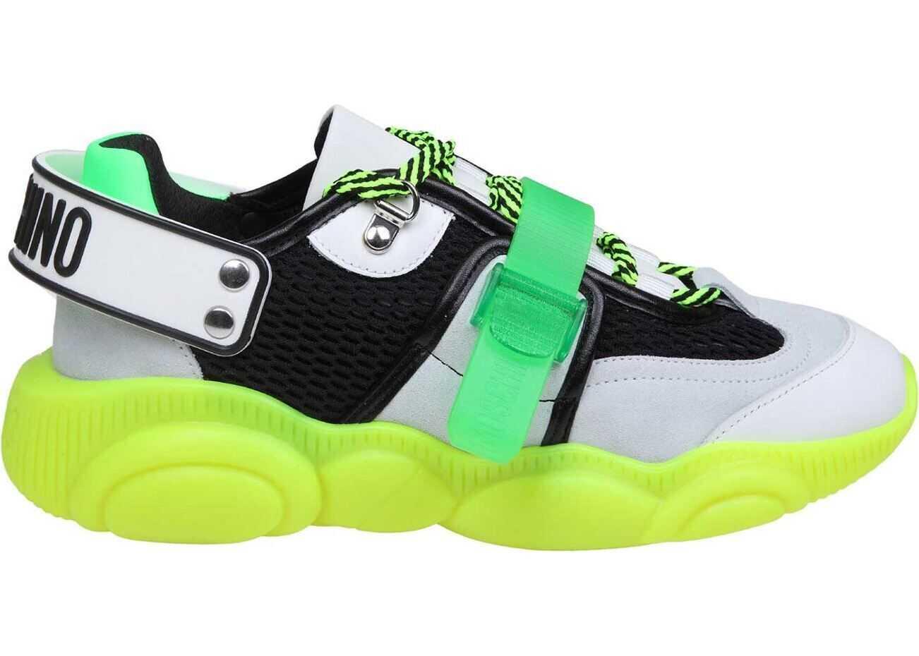 Moschino Teddy Fluo Sneakers In Green Green