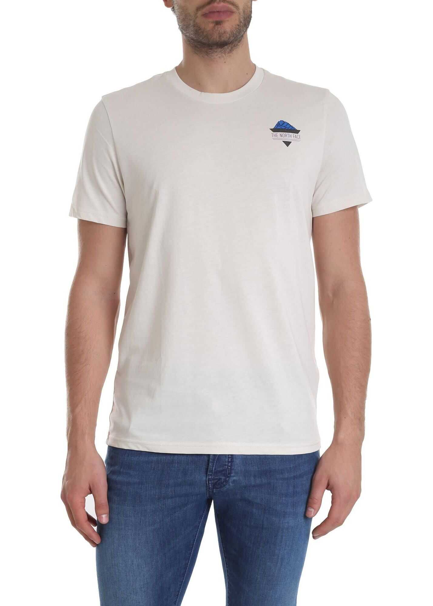 T-Shirt With Logo In Cream-Color