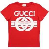 Tricouri Gucci Red T-Shirt With Logo Print