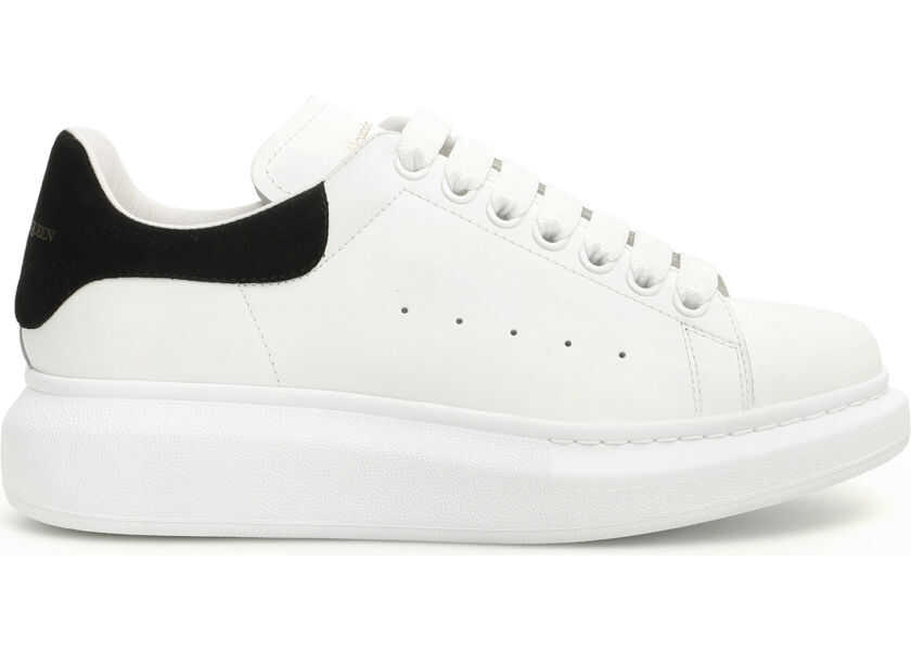 Alexander McQueen Oversized Sneakers - WHITE BLACK - Boutique Mall