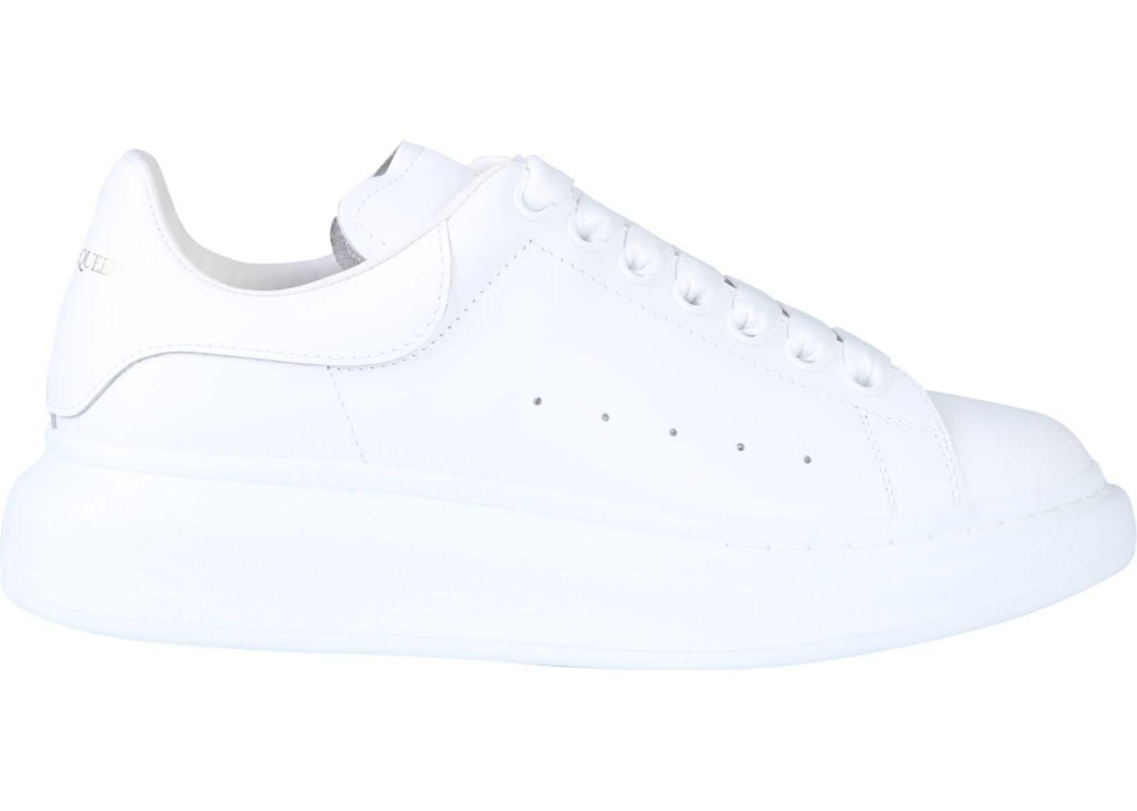 Alexander McQueen Oversize Leather Sneakers WHITE