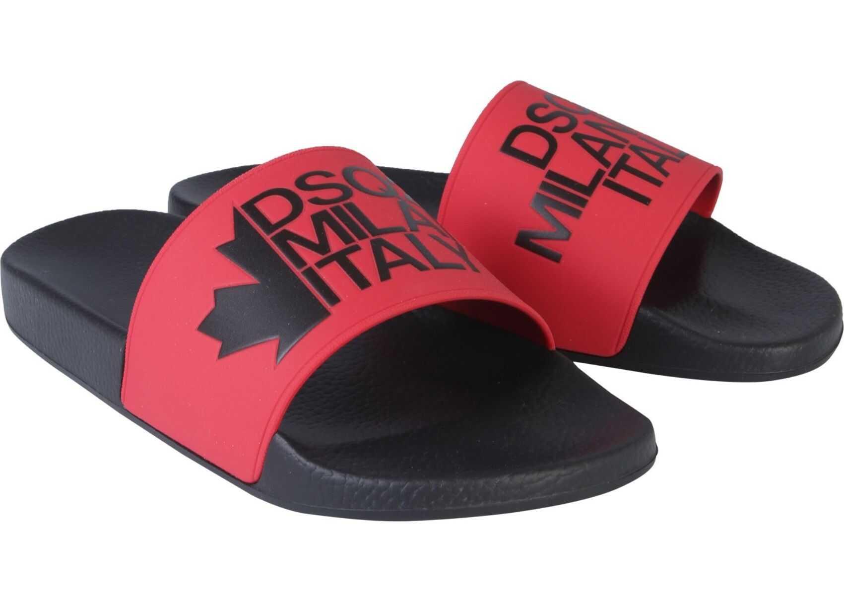 DSQUARED2 Rubber Slide Sandals BLACK