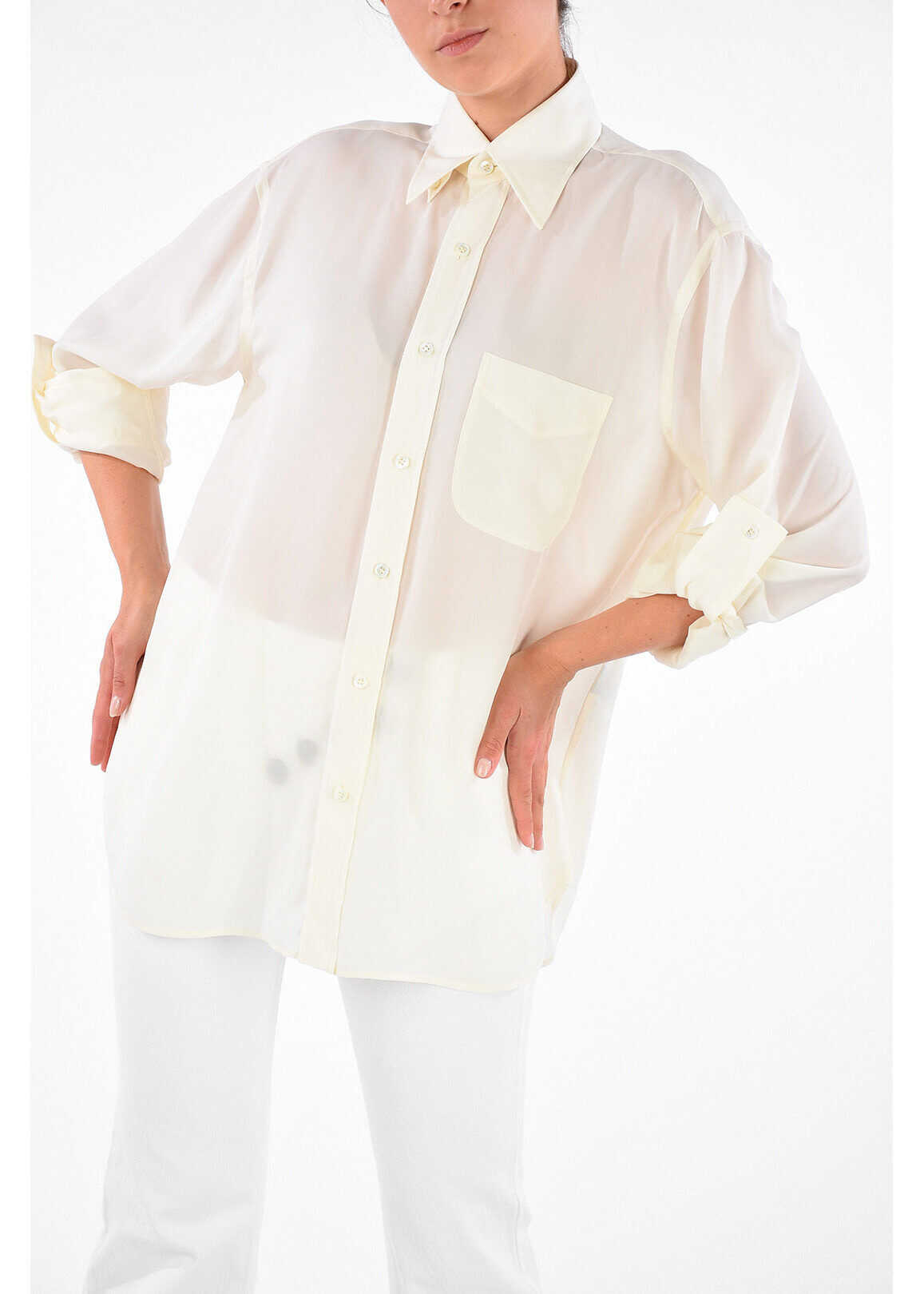 Tom Ford Blouse With Breast Pocket WHITE