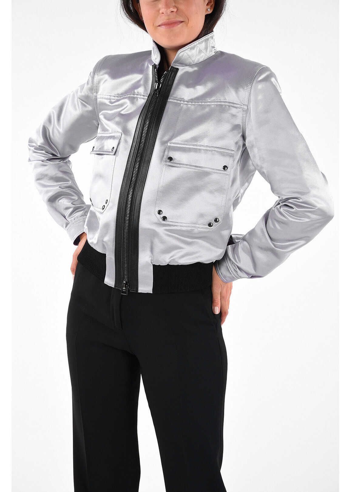 Tom Ford Satin Jacket SILVER