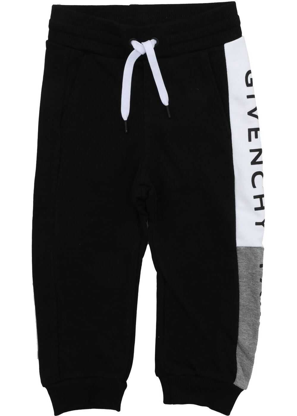 Givenchy Sweatpants In Black With Side Logo Band Black