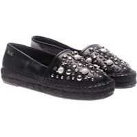 Espadrile Karl Lagerfeld Black Espadrilles With Studs And Logo*