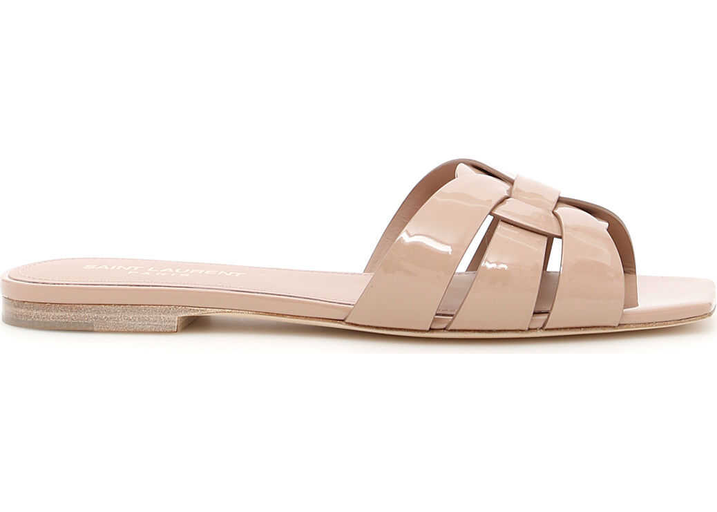 Saint Laurent Nu Pieds Slides NUDE