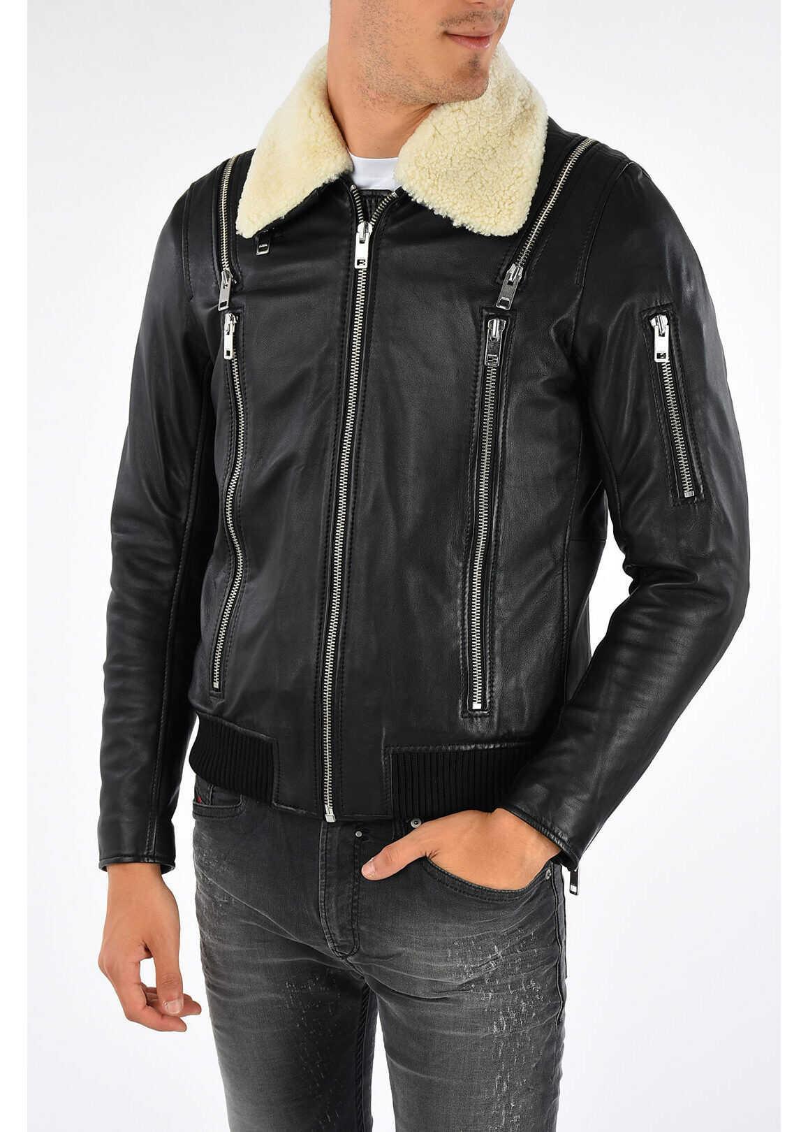 Diesel Leather L-FEEDER Jacket N/A