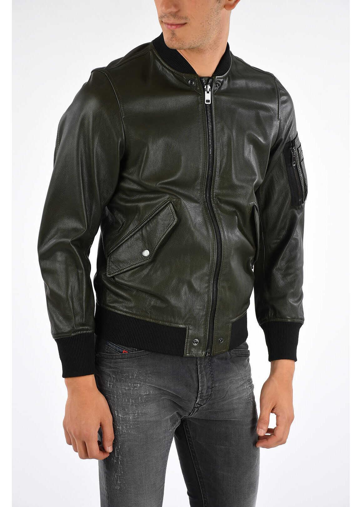 Diesel Leather R-KITTIE Jacket N/A