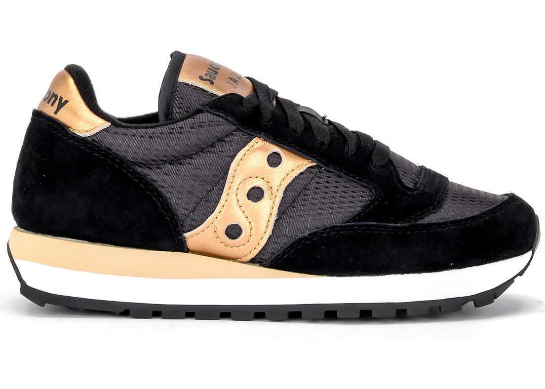 Saucony Sneaker Saucony Jazz In Suede E Tessuto Con Dettagli Oro Black