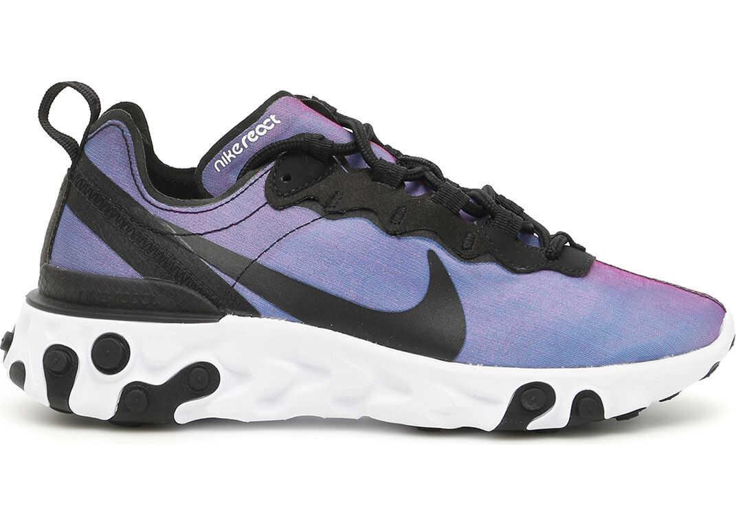 Nike React Element 55 Sneakers BLACK LASER FUCHSIA WHITE