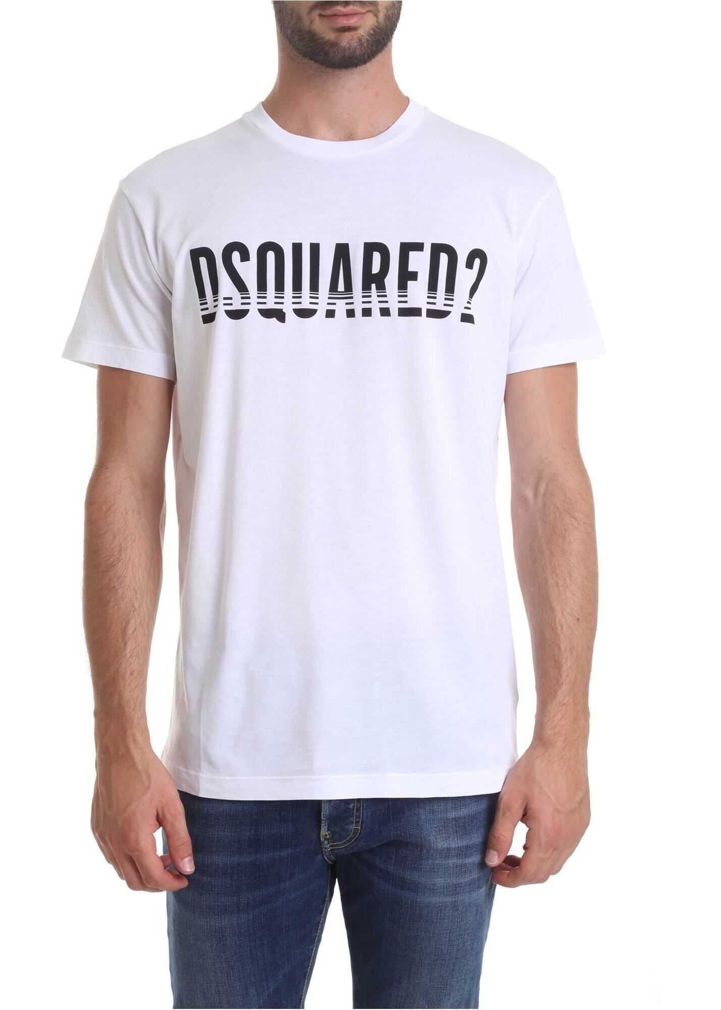 Dsquared2 Printed T-Shirt In White
