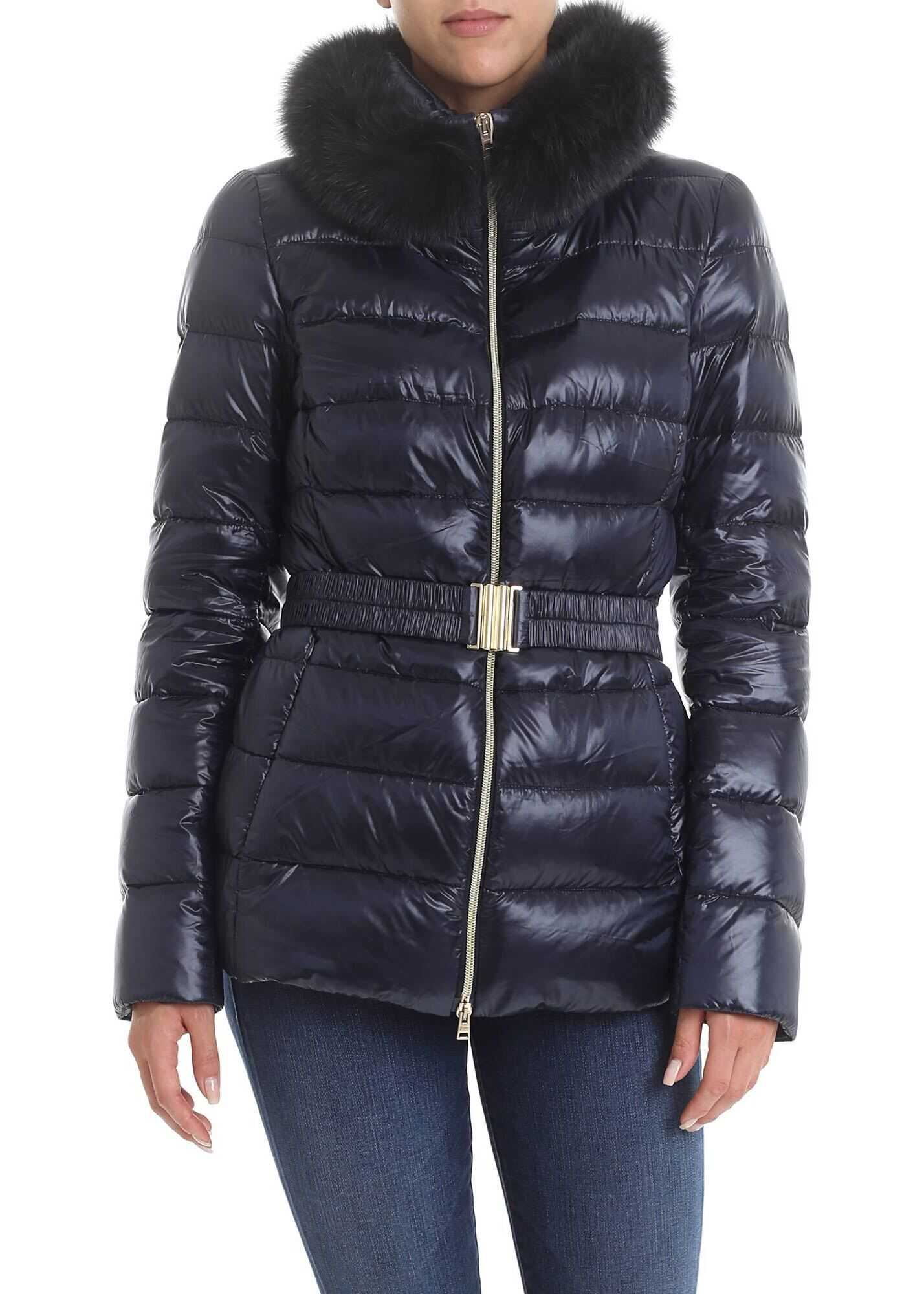 Herno Claudia Iconico Down Jacket In Blue Blue