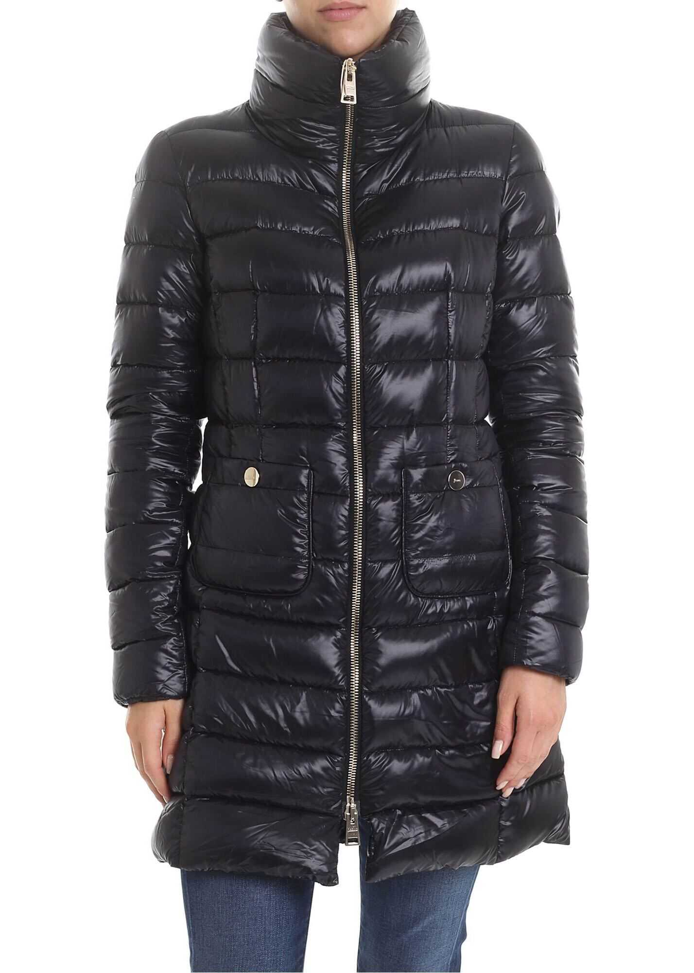 Herno Iconico Maria Down Jacket In Black Black