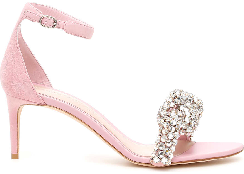 Alexander McQueen Crystal Knot Sandals SU PINK CRY SU PINK
