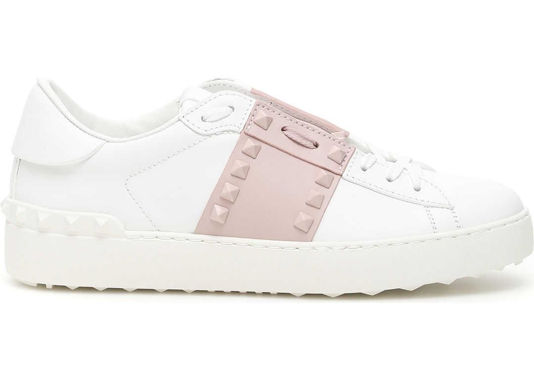 Valentino Garavani Rockstud Untitled Sneakers BIANCO WATER ROSE