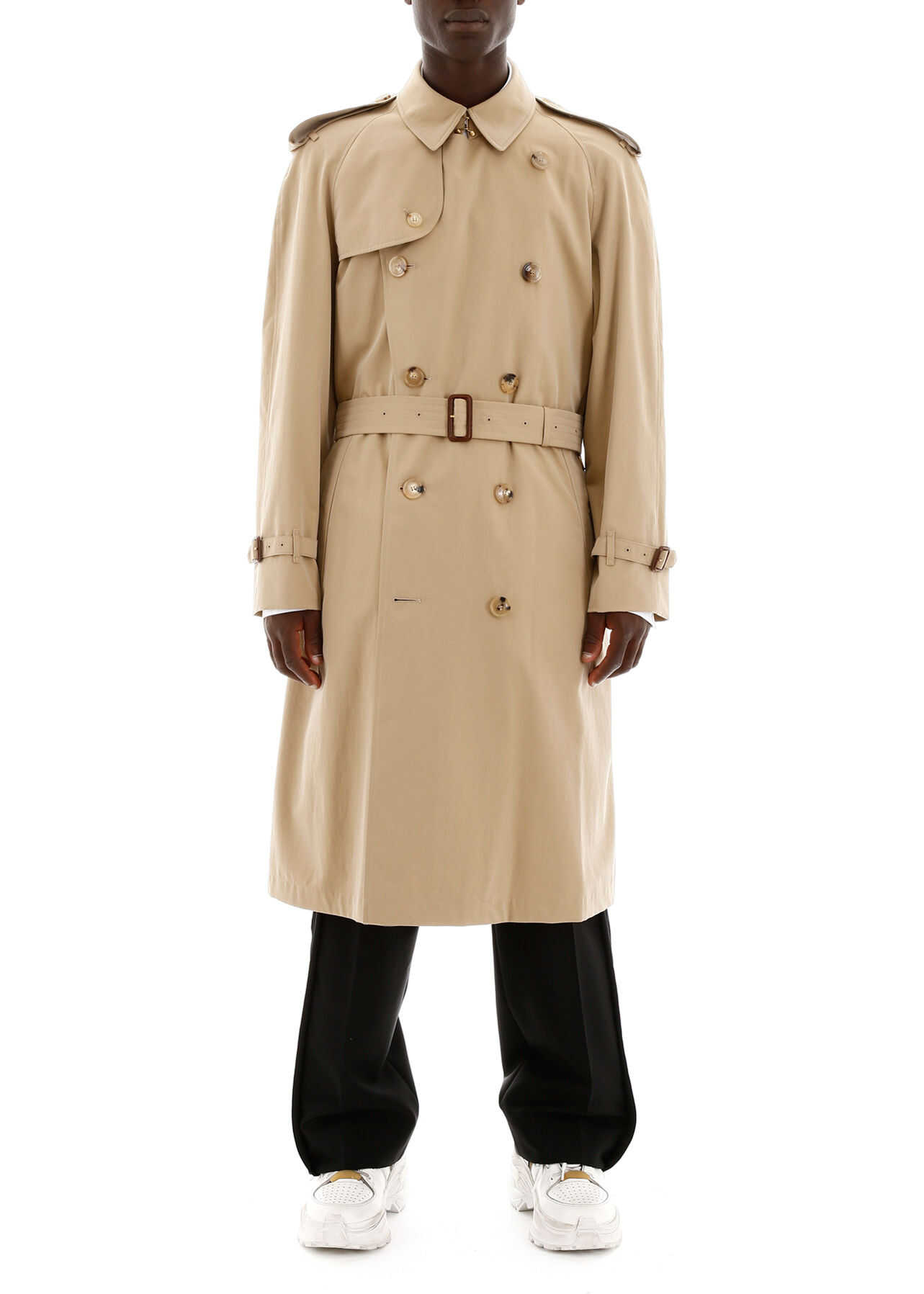 Burberry Long Westminster Trench Coat HONEY