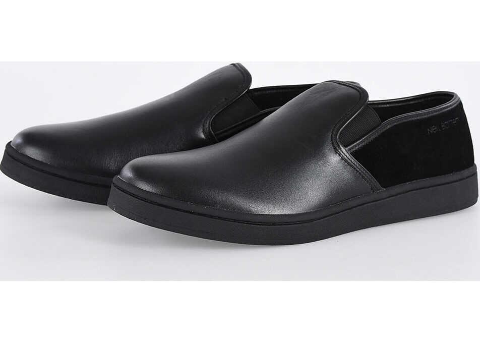 Neil Barrett Leather Slip on BLACK