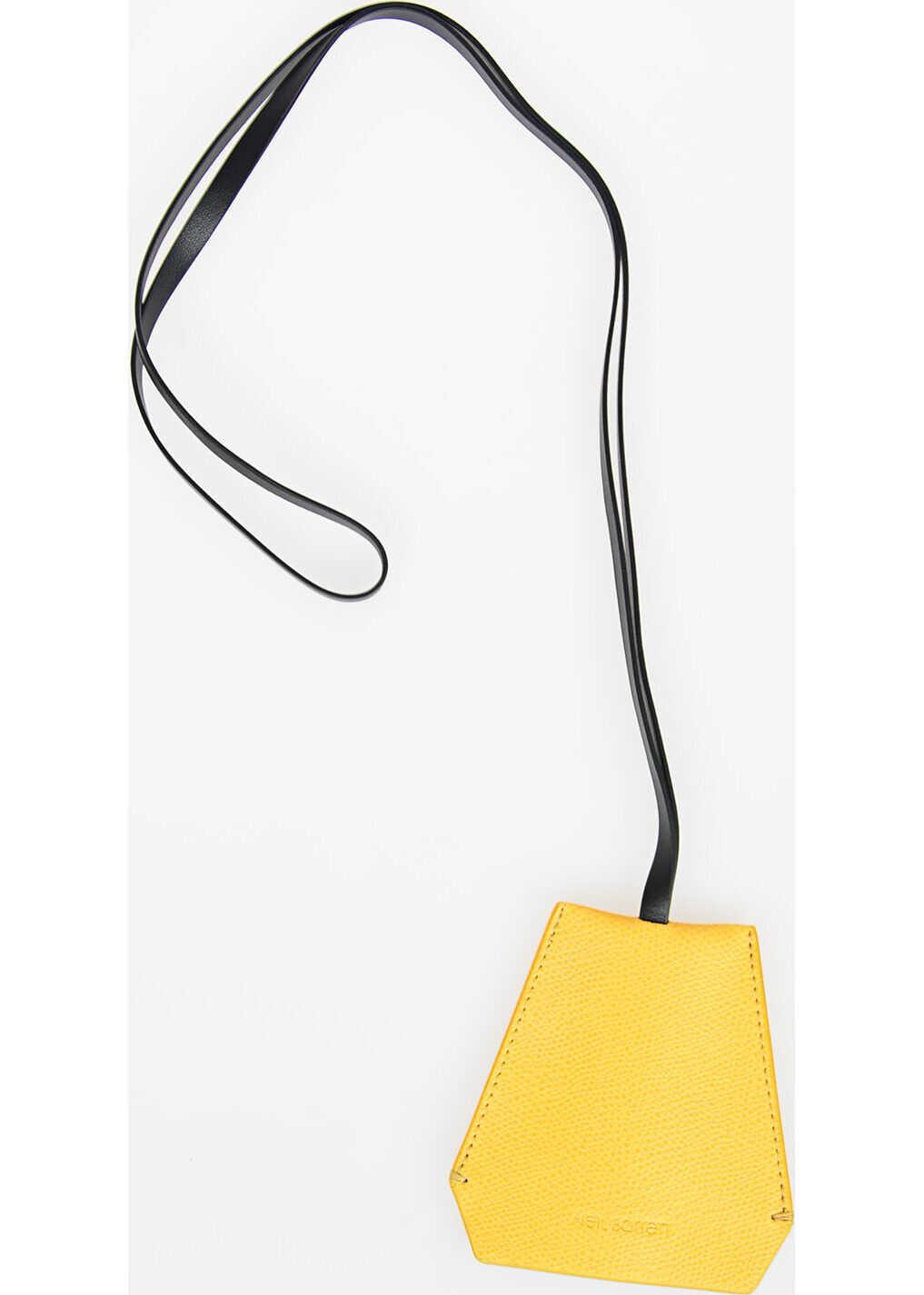 Neil Barrett Leather Necklace Keyring YELLOW