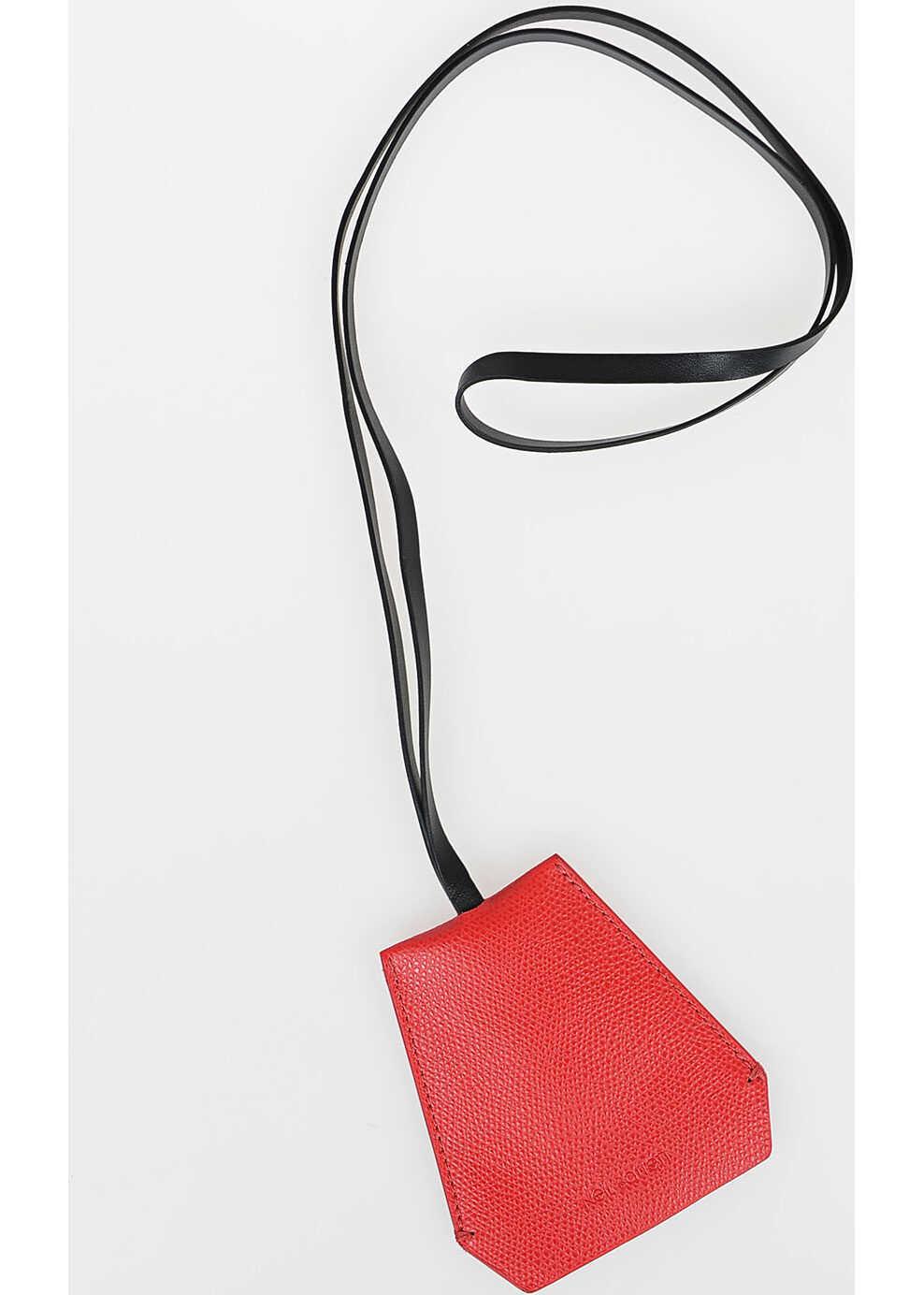 Neil Barrett Leather Necklace Keyring BLACK