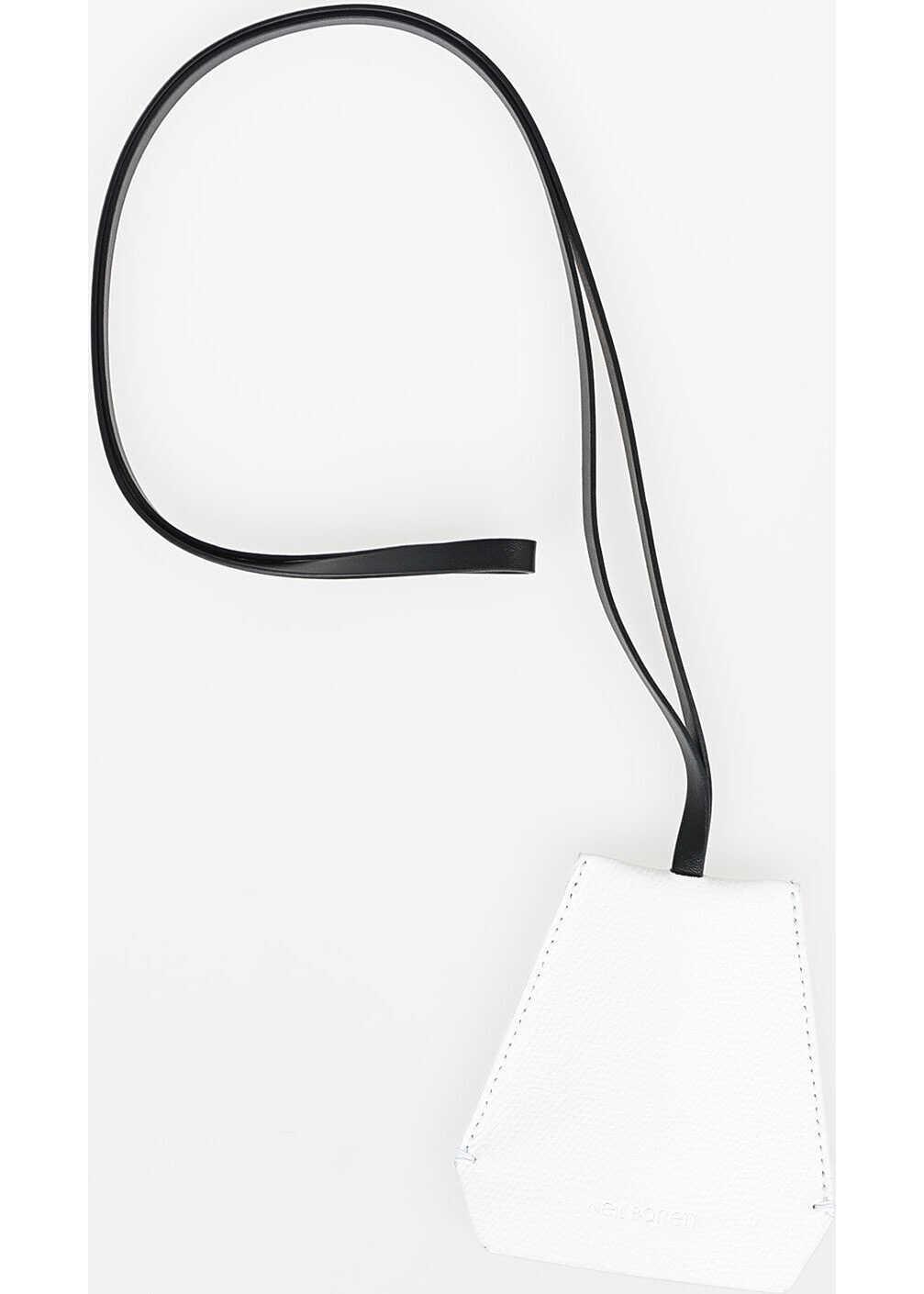 Neil Barrett Leather Necklace Keyring WHITE