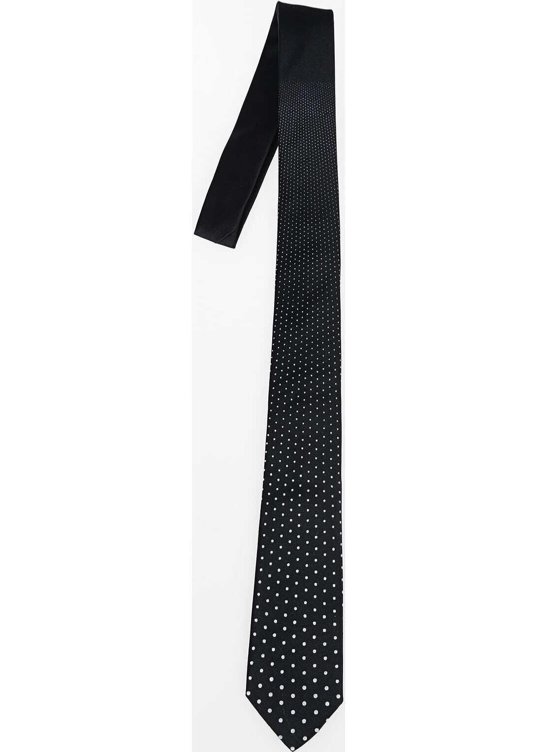 Neil Barrett Slim Tie with Dots BLACK