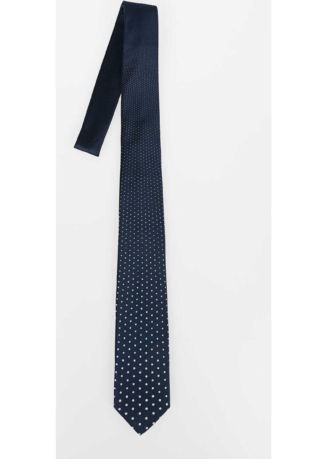 Neil Barrett Slim Tie with Dots BLUE