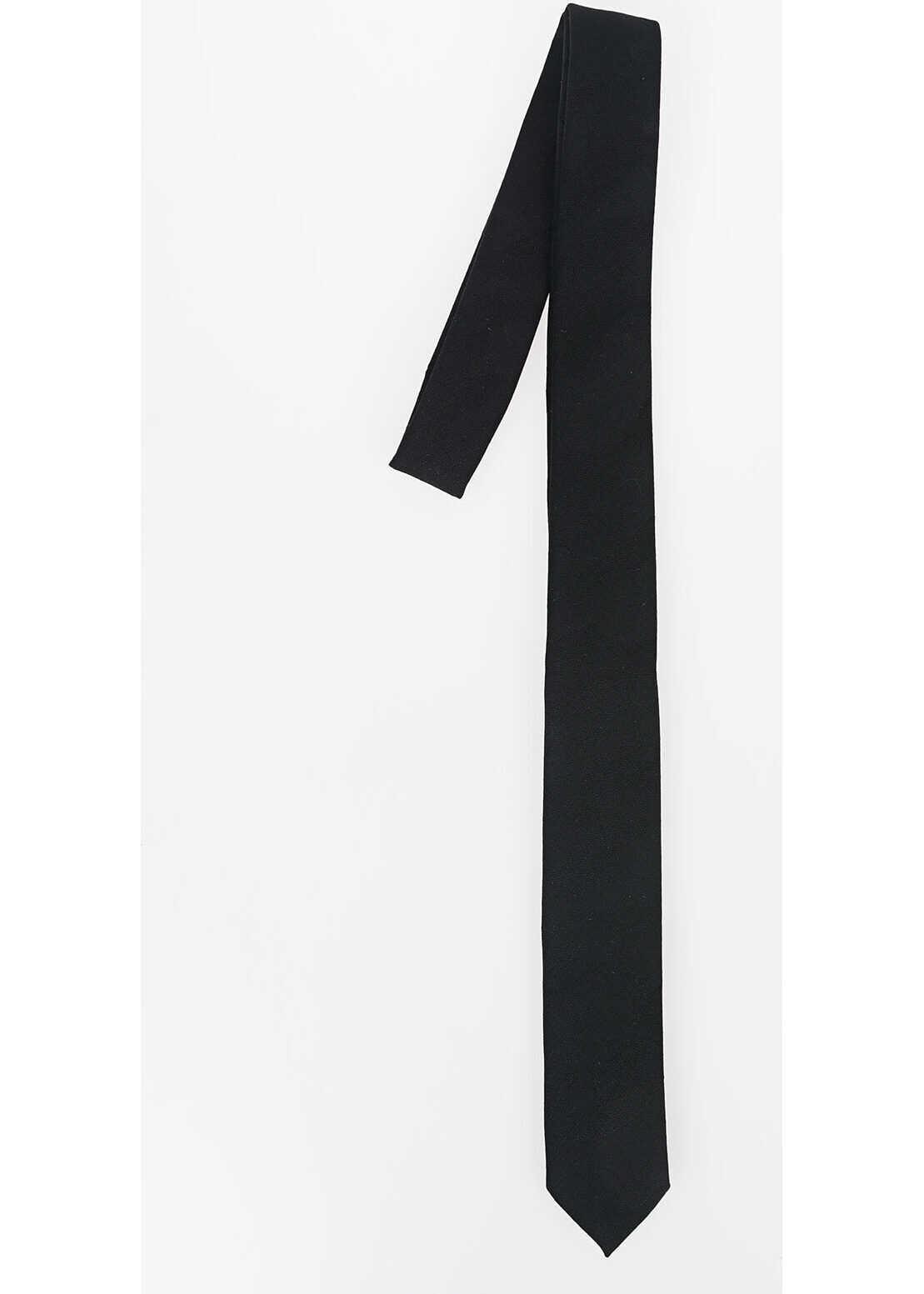 Neil Barrett Virgin Wool Skinny Tie BLACK