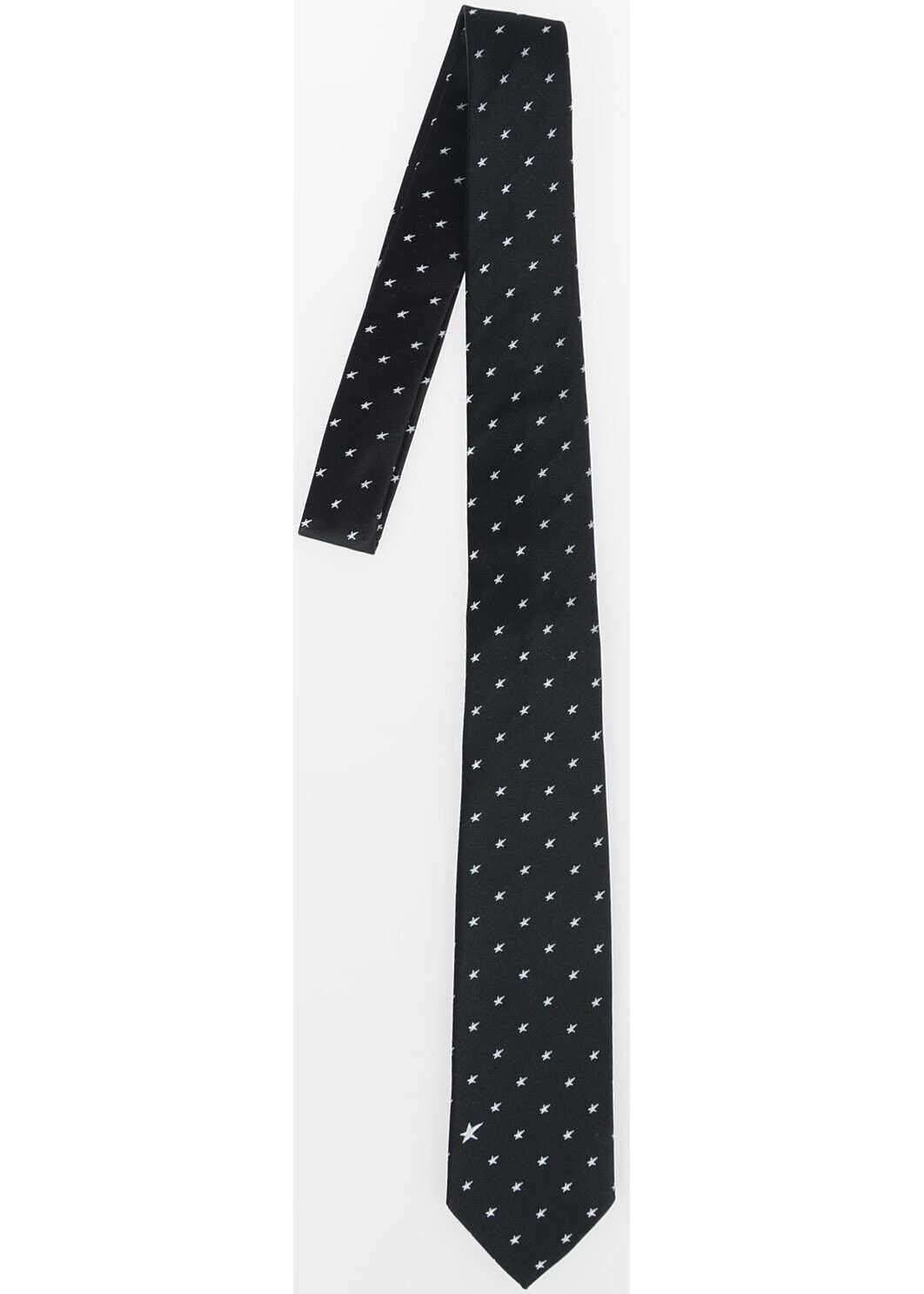 Neil Barrett Silk Slim Tie BLACK