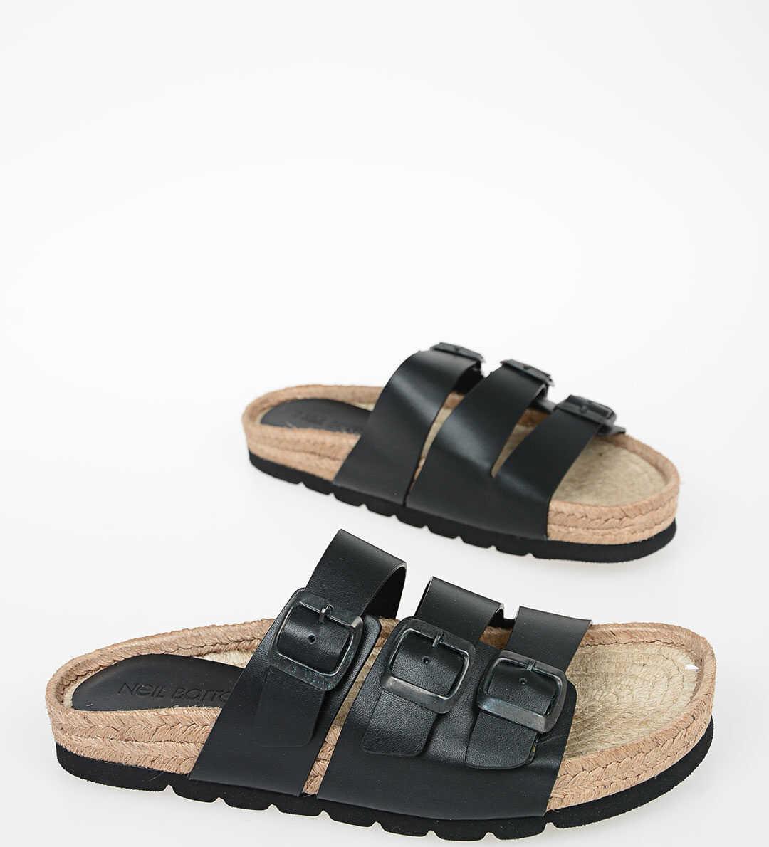 Neil Barrett Leather Sandals BLACK