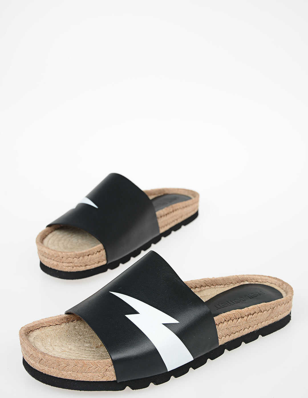 Neil Barrett Thunder Printed Sandals BLACK