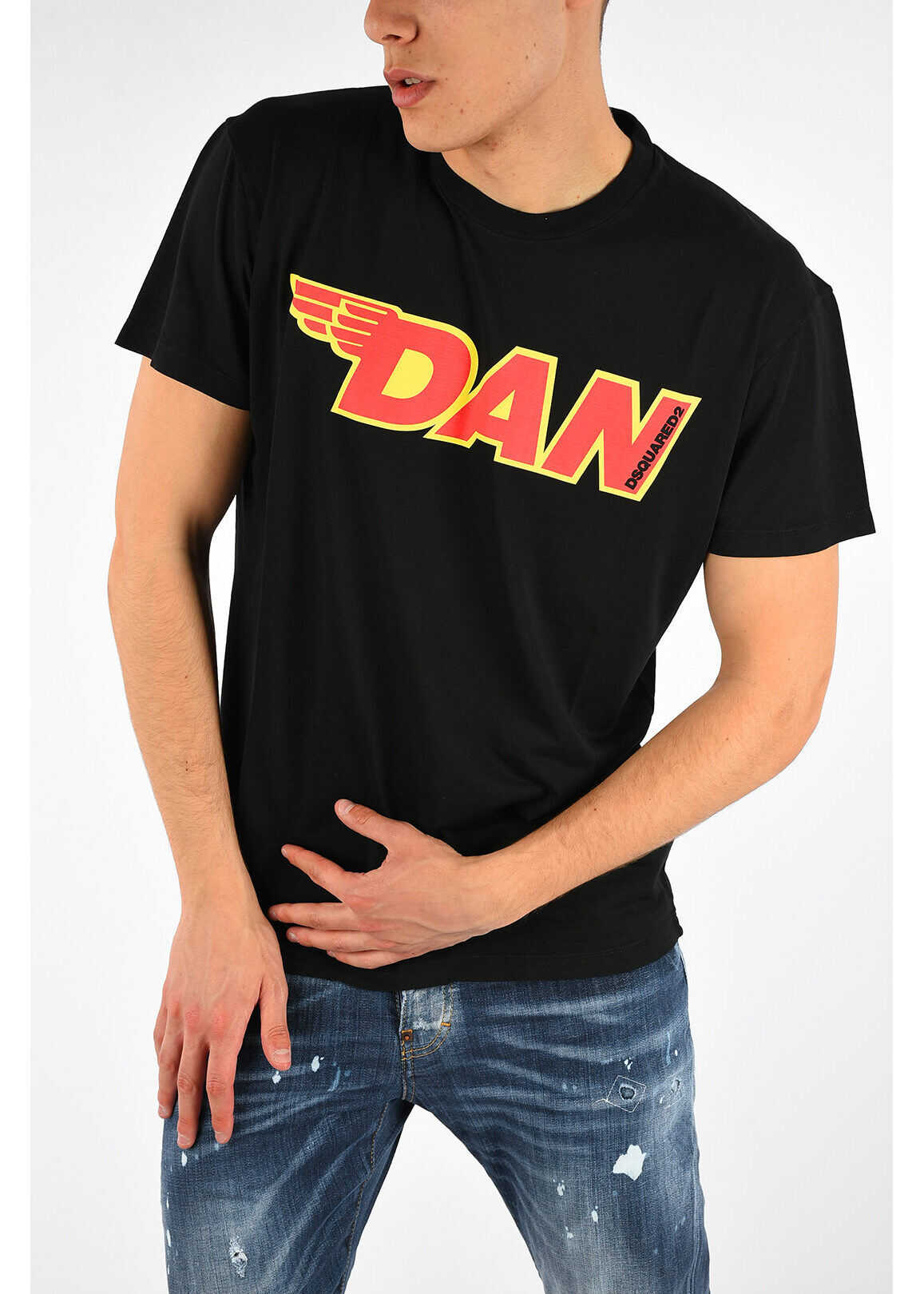 DSQUARED2 T-shirt with DAN Print BLACK