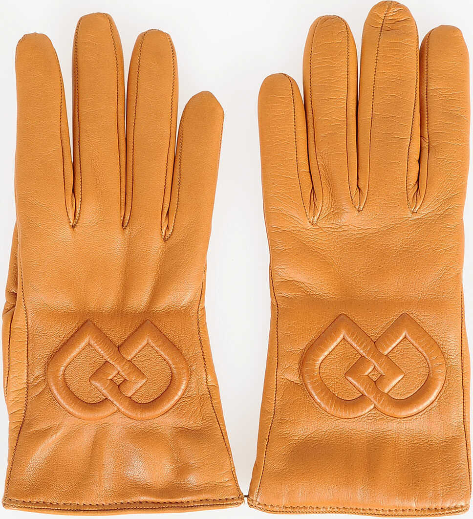 DSQUARED2 Leather Gloves BROWN