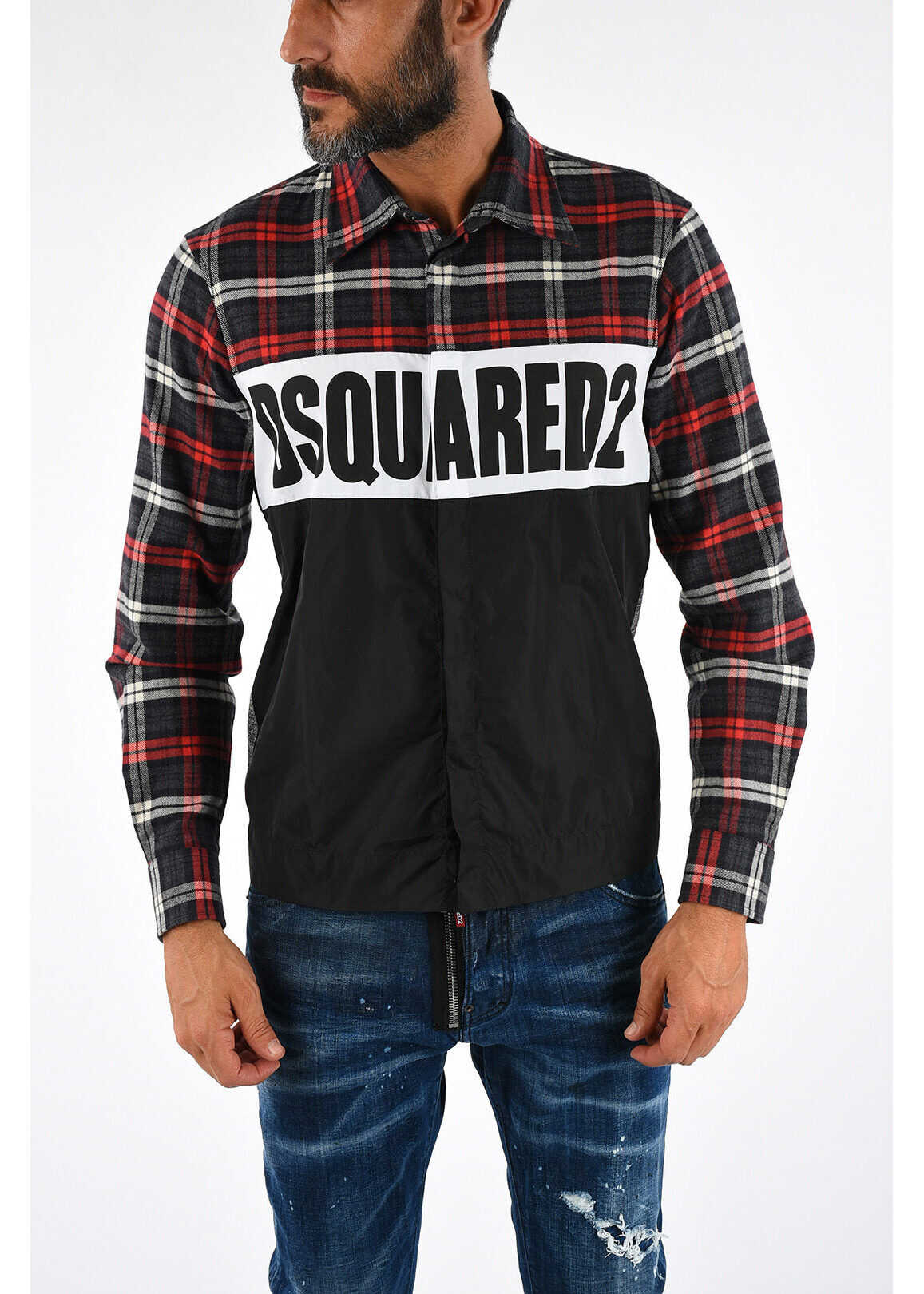 DSQUARED2 Printed Checked Shirt MULTICOLOR