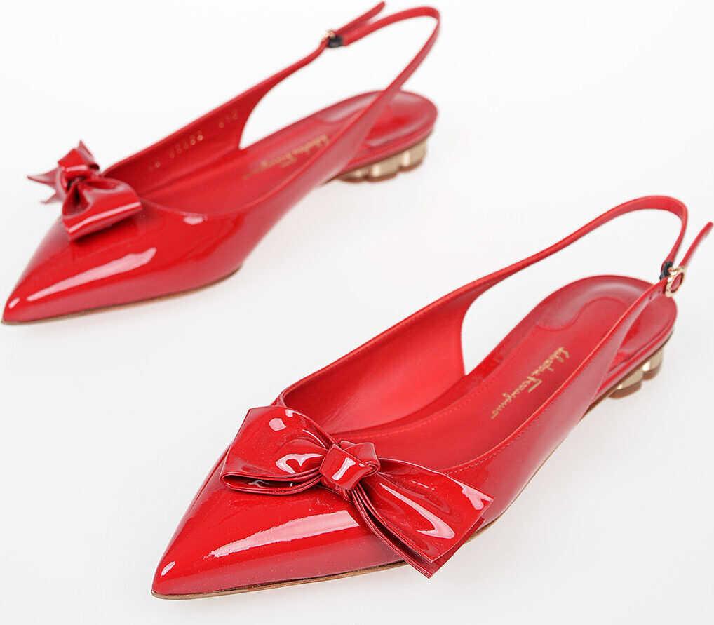Salvatore Ferragamo Leather AULLA Slingback RED