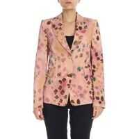 Sacouri office Printed Blazer In Pink Femei