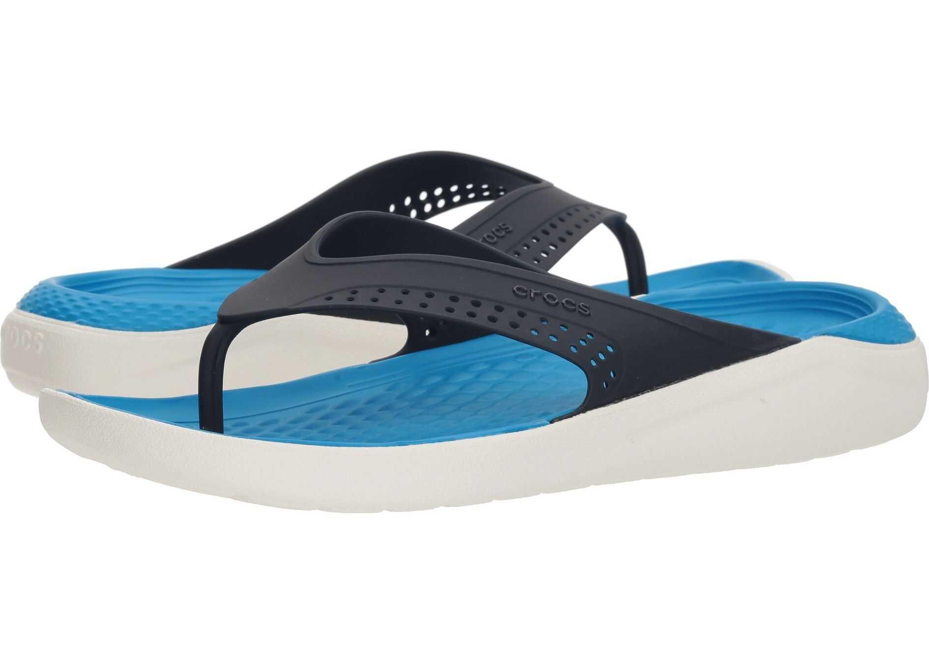 Crocs LiteRide Flip Navy/White
